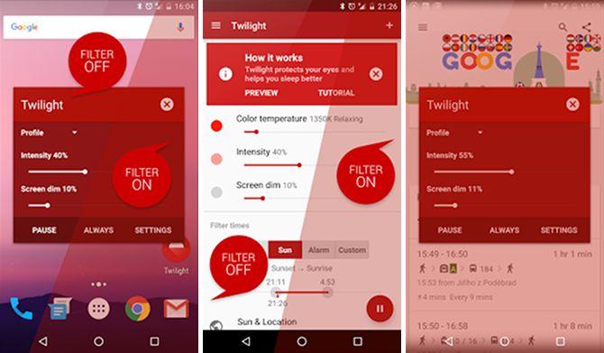 android-sueño-apps-crepúsculo