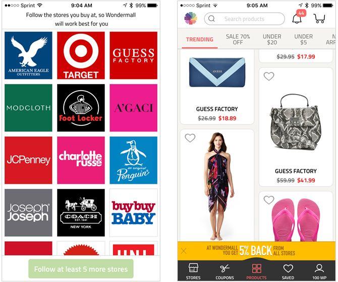 aplicación para el iPhone wondermall