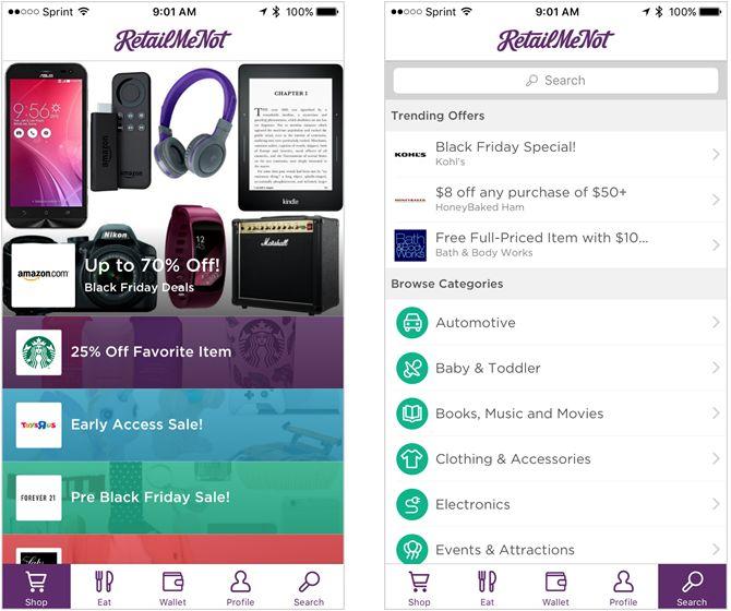 aplicación para el iPhone retailmenot