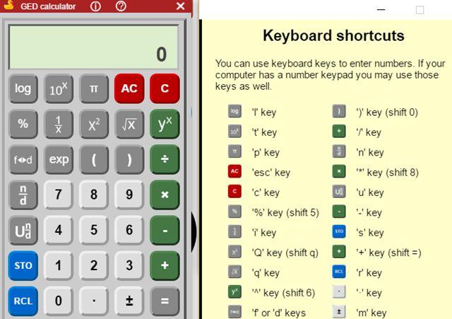 GED calculadora científica extensión de Chrome