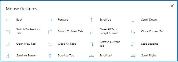 Edge Mouse Gestures general
