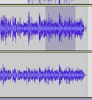 grabación de audacia