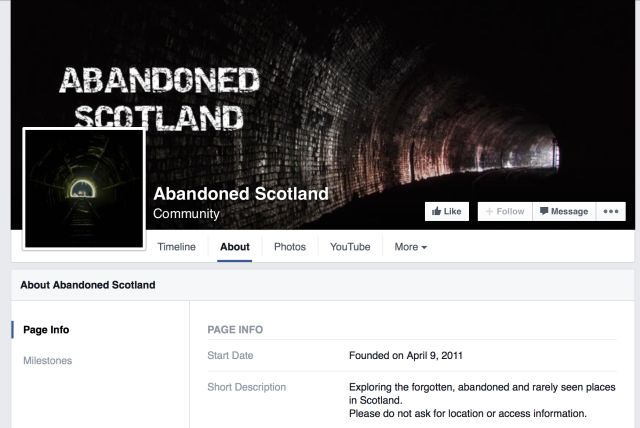 abandonado Escocia