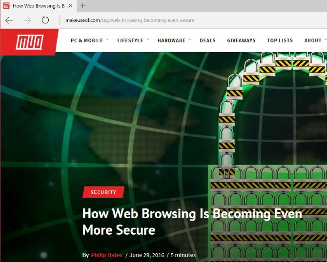 Microsoft borde navegación web segura