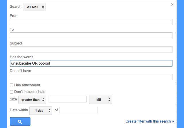 gmail-filtros-darse de baja-opt-out