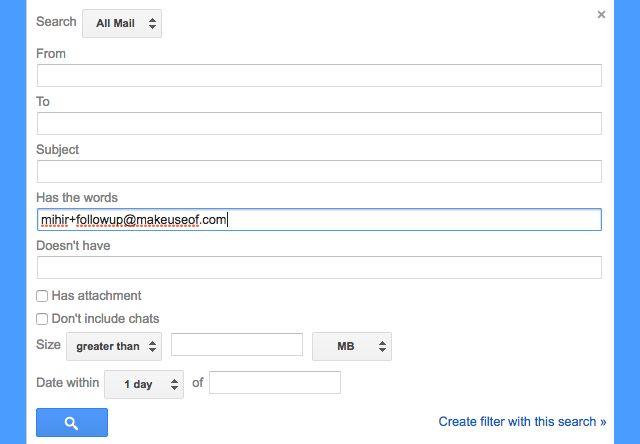 Gmail filtros de seguimiento