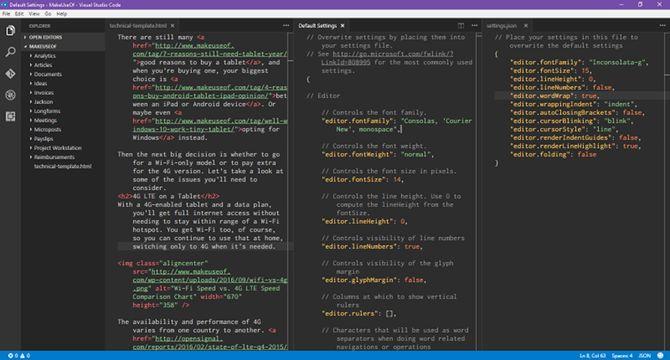 visual-studio-código del lado-a-lado