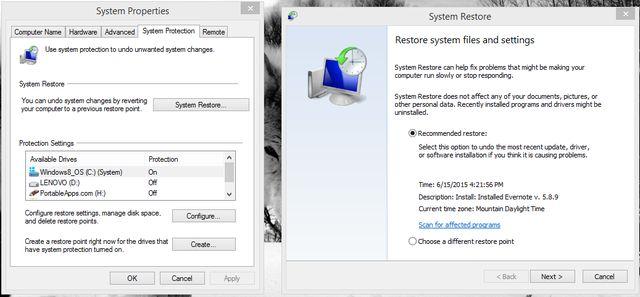 4.1 restauración del sistema
