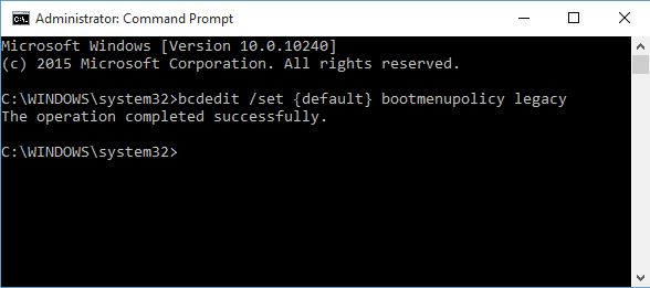 10 comandos de Windows BCDEdit Prompt