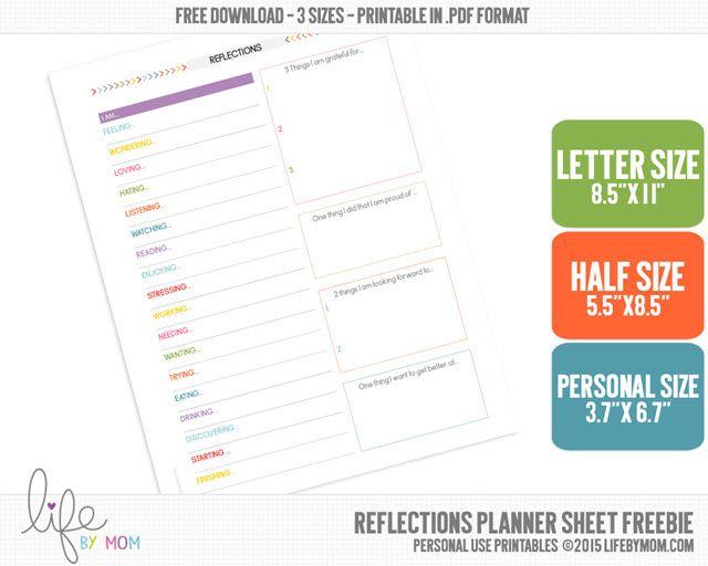 Productividad Planner - Reflexiones