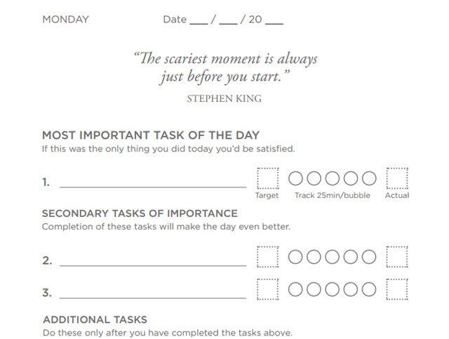 Productividad Planner - Cambio Inteligente