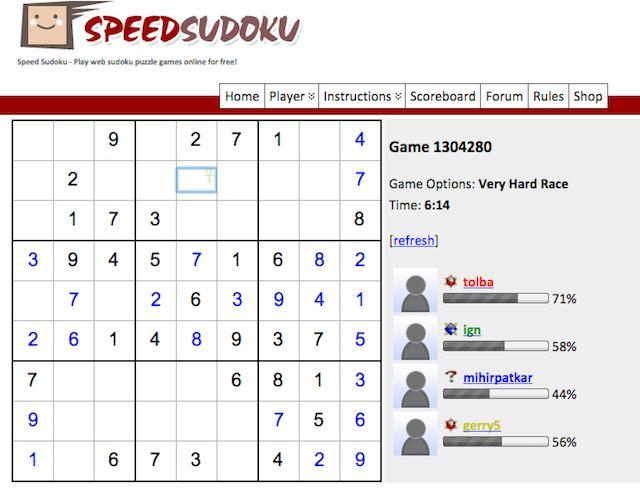 Velocidad-Sudoku