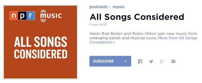 todas las canciones consideradas de podcast