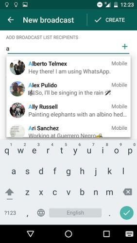 WhatsApp-difusión