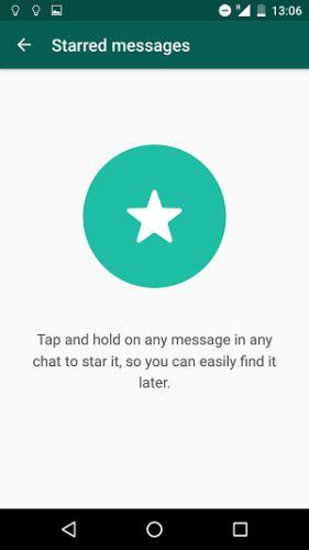 WhatsApp con estrellas