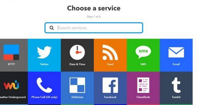 elegir ifttt servicio