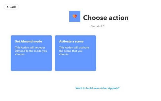 elegir ifttt acción