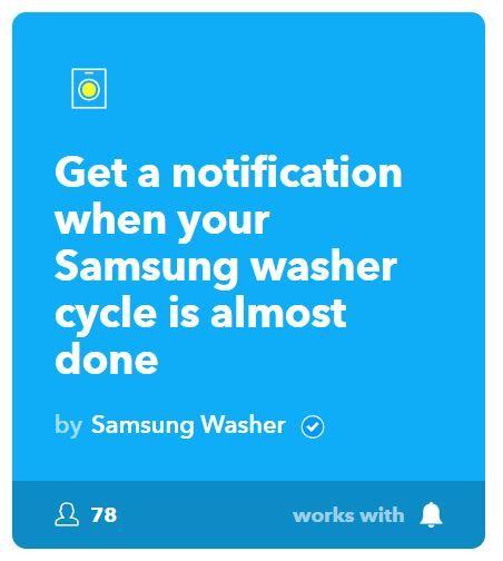 Samsung ifttt arandela