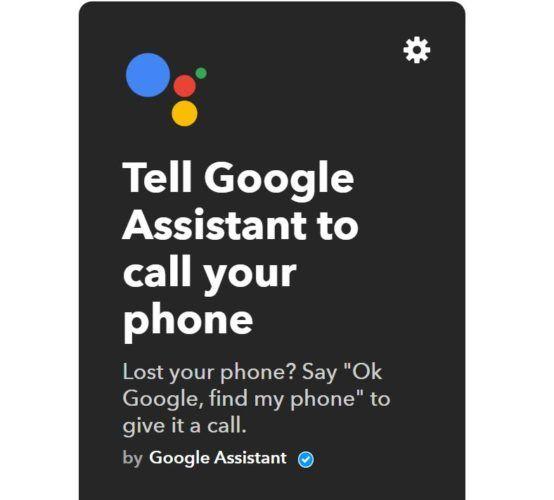 Google asistente de llamada a casa ifttt