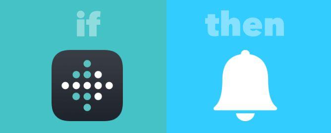 Notificación IFTTT por no alcanzar los Objetivos de Fitbit