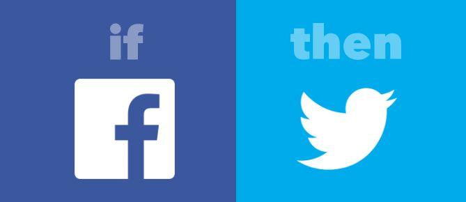 IFTTT Facebook Twitter