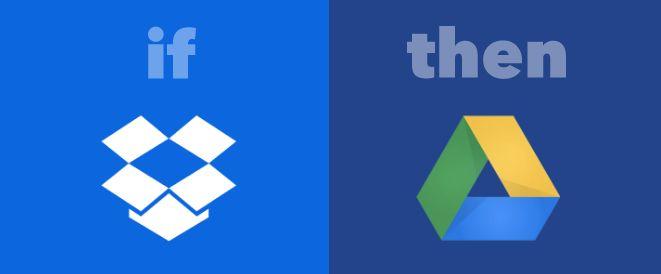 IFTTT Dropbox para Google Drive