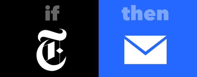 IFTTT NYTimes a Gmail