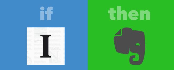 IFTTT Instapaper destacados a Evernote