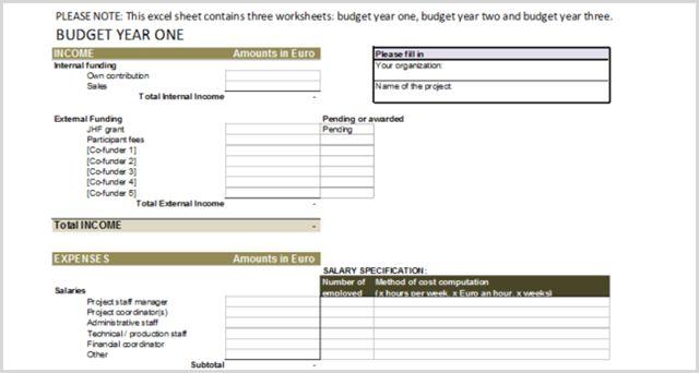 Excel PM anual Presupuesto plantilla