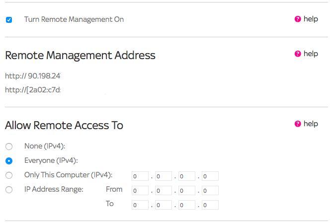 Configuración de acceso remoto router inalámbrico