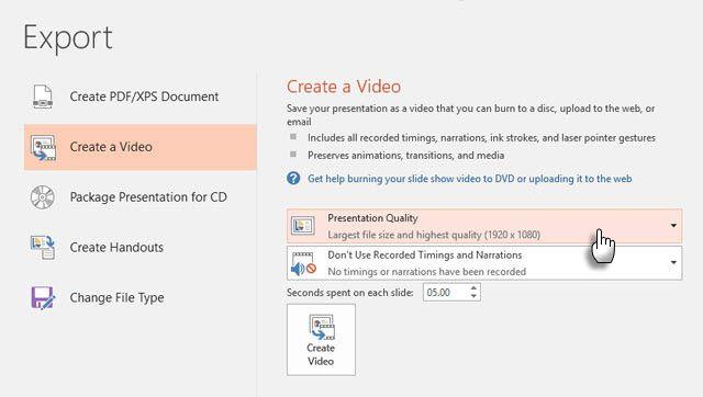 Exportación de vídeo de alta definición