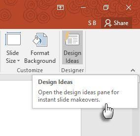 Las ideas de diseño en PowerPoint