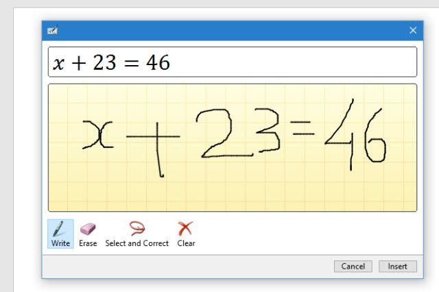 La ecuación de tinta