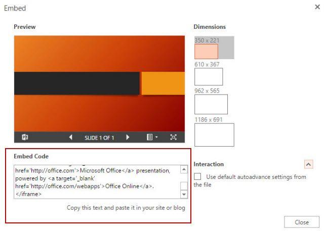 PowerPoint - incrustar una presentación