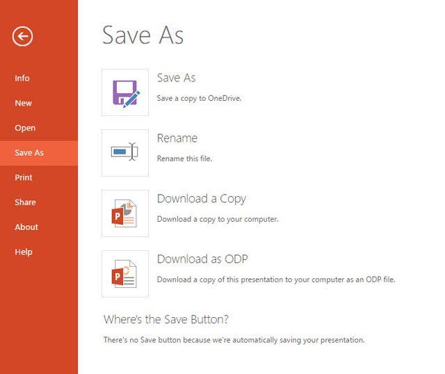 PowerPoint - Descarga una copia local
