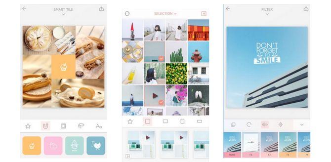 El uso de abril para collages de medios sociales