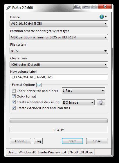 Rufus ISO al USB