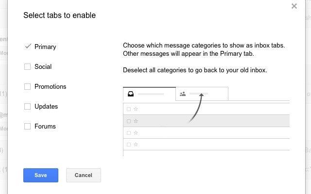 gmail-configure-bandeja de entrada