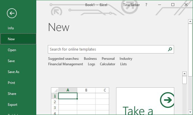 Excel-template-selección