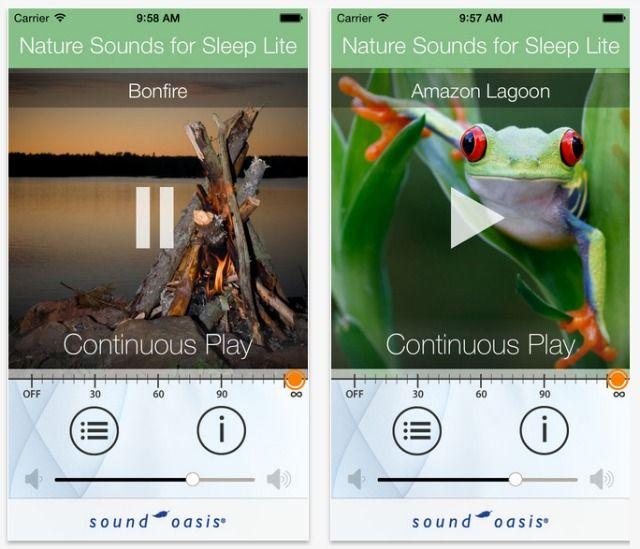 sonidos de la naturaleza para la captura de pantalla del sueño