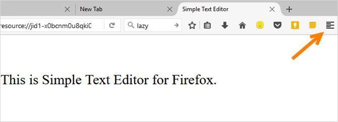 Firefox simple editor de texto