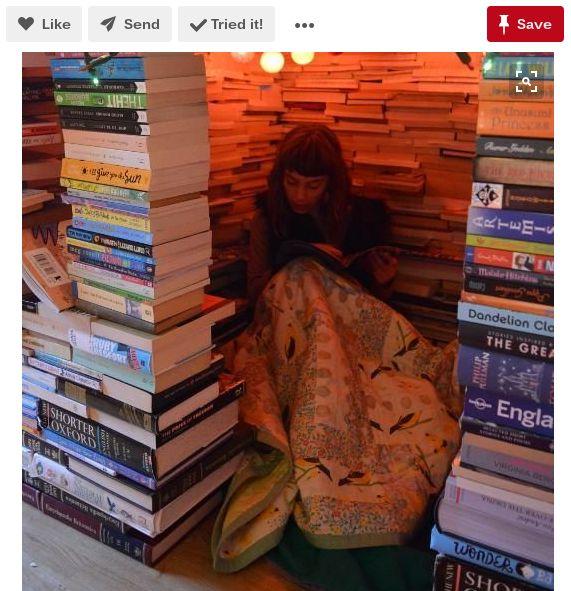 La lectura en un rincón de libros