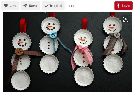 adornos de muñecos de nieve