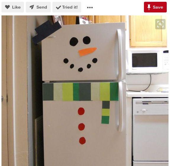 refrigerador muñeco de nieve