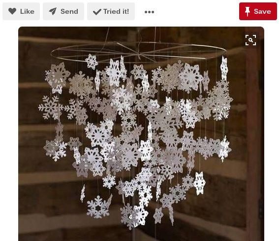 los copos de nieve de papel