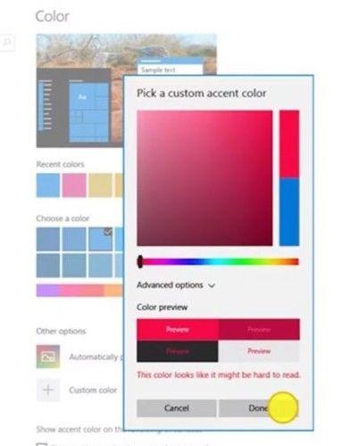 Windows 10 Creadores Update - Colores personales