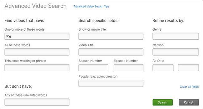 Hulu-tips-avanzado de búsqueda