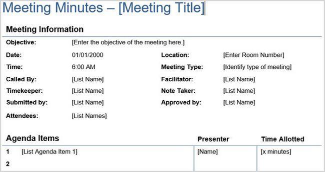 Reunión detallada Minutos Vertex42