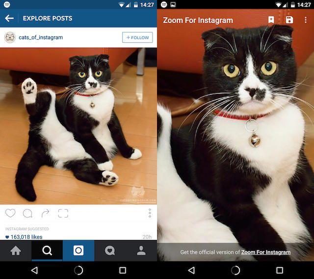 Amplía para instagram