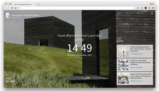 cromo-precioso-new-tab-páginas-archdaily